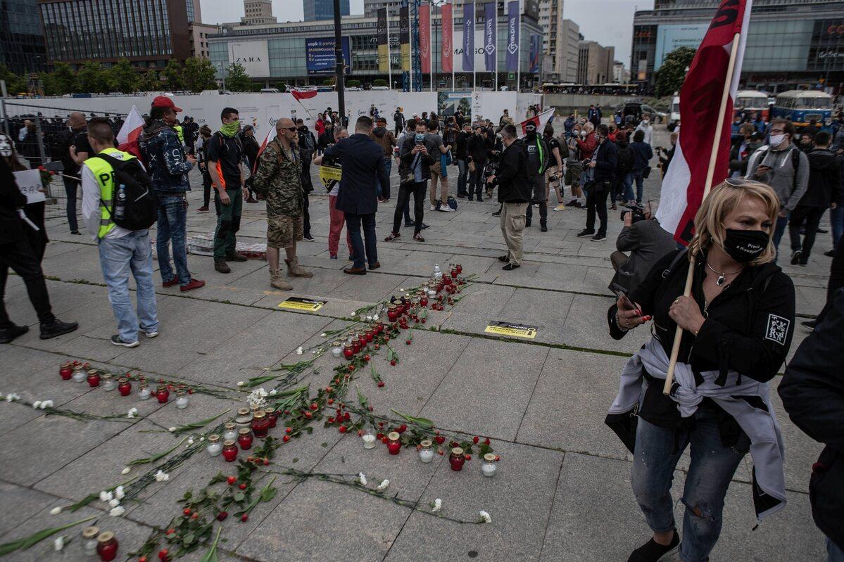 Protest przedsiębiorców w Warszawie, 23 maja 2020 r.