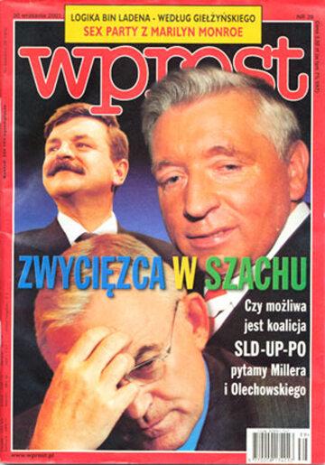 Okładka tygodnika Wprost nr 39/2001 (983)