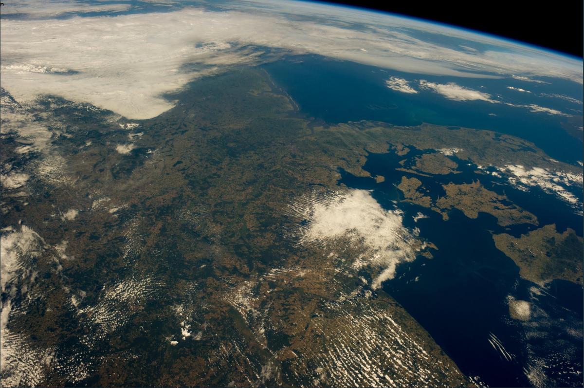 Europa widziana z kosmosu w 2014 roku