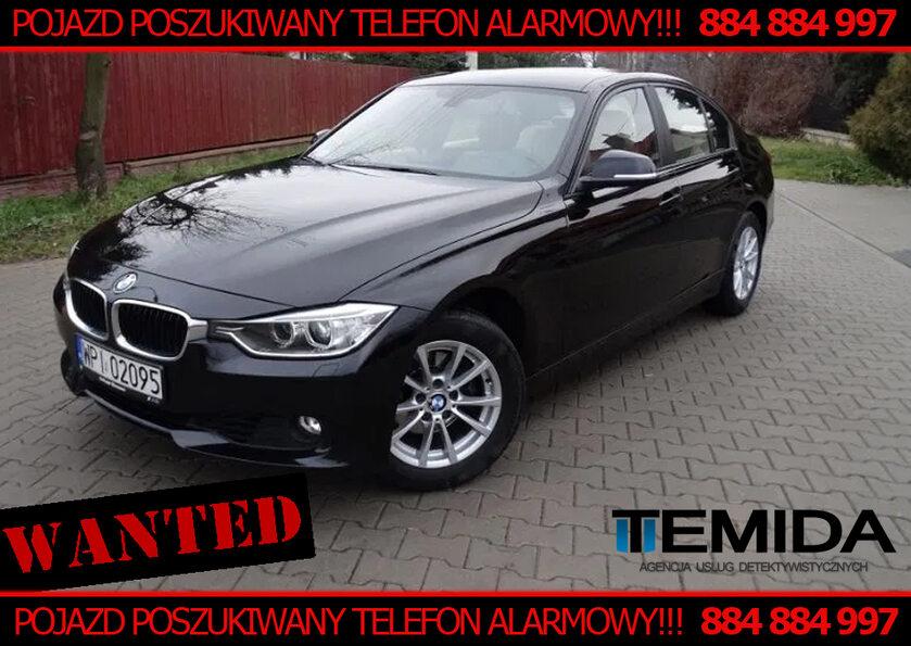 BMW 3 o numerach WPI 02095 kolor czarny