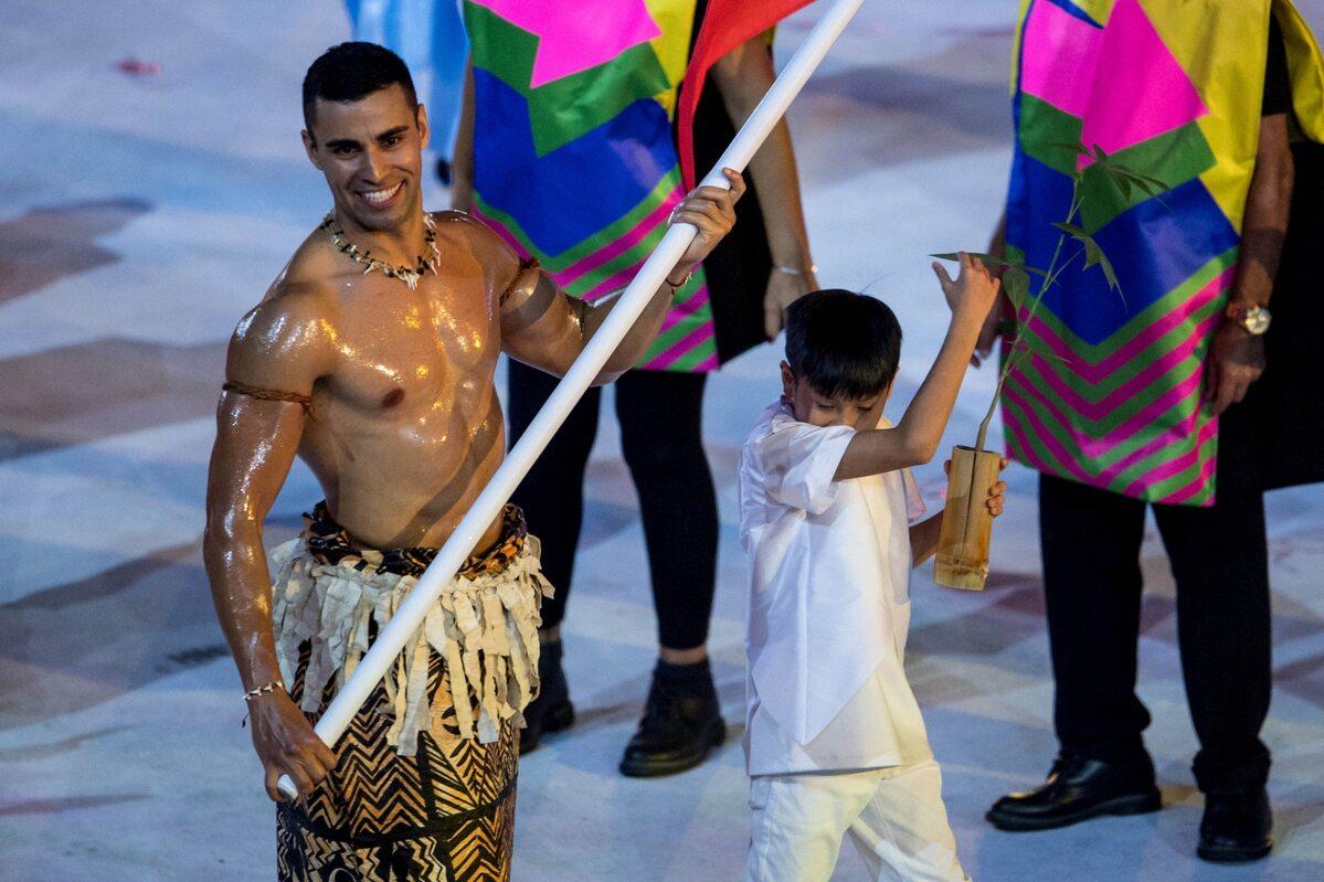 Pita Taufatofua w Rio w 2016 roku
