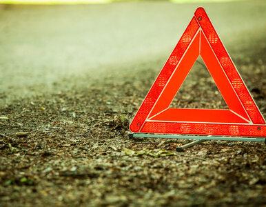 Zderzenie motocykla, lawety i samochodu osobowego. Trzy osoby nie żyją