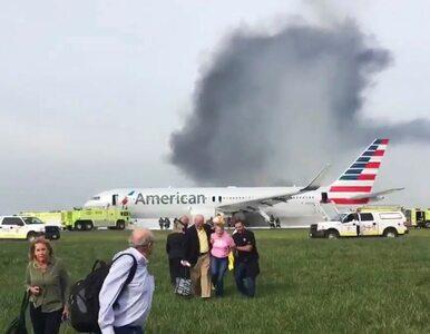 Samolot stanął w płomieniach podczas startu. Kilkanaście osób rannych