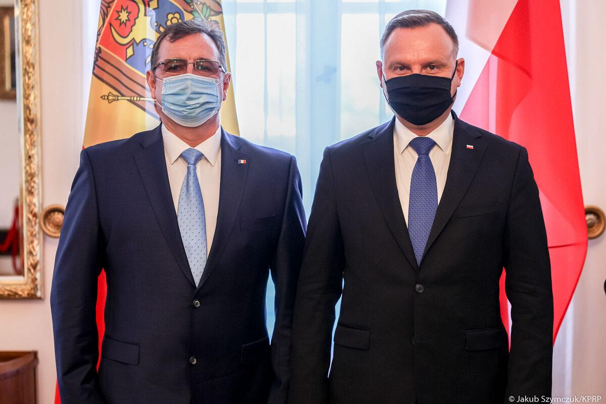Andrzej Duda i ambasador Republiki Mołdawii w RP