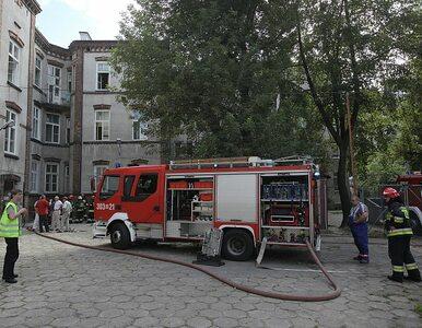 Pożar w szpitalu w Warszawie. Pacjenci ewakuowani