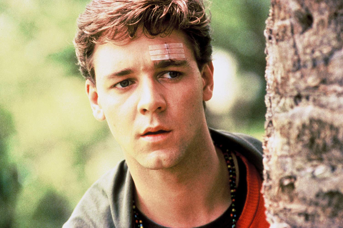 "Russell Crowe w ""Dowód"" (1991)"