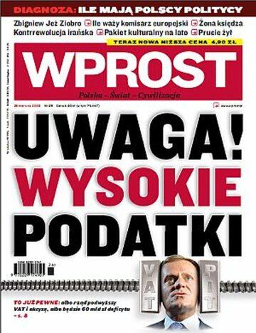Okładka tygodnika Wprost nr 26/2009 (1381)