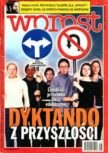 Okładka tygodnika Wprost nr 48/2001 (992)