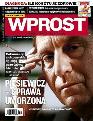 Okładka tygodnika Wprost nr 11/2010 (1415)