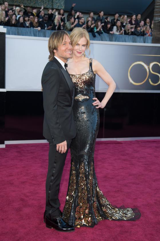 Keith Urban i Nicole Kidman podczas 85. ceremonii rozdania Oscarów w 2013 roku