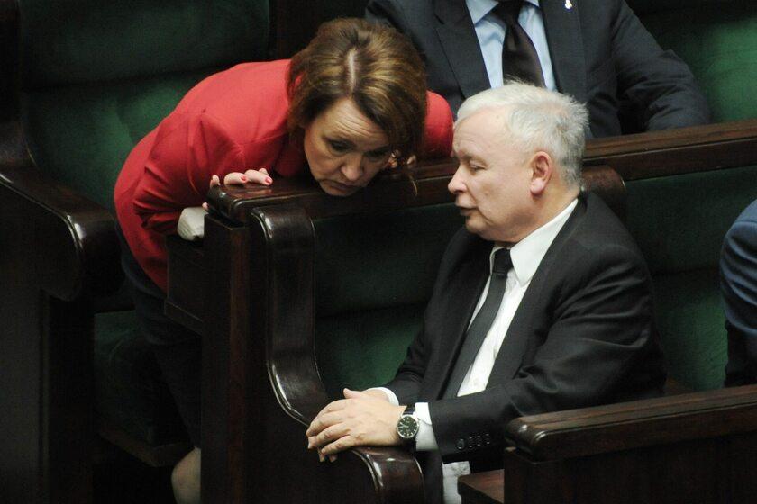 Jarosław Kaczyński i Anna Zalewska