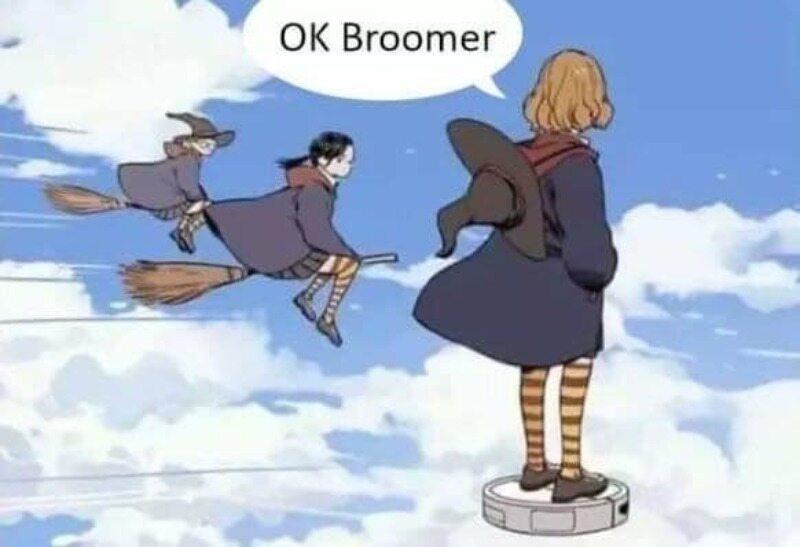 """Mem związany z hasłem """"OK BOOMER"""""""
