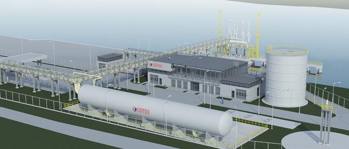Wizualizacja projektu LNG małej skali wGdańsku
