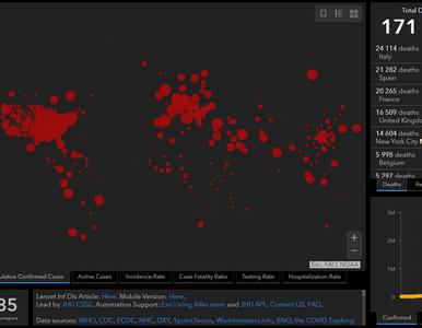 Już ponad 2,5 mln przypadków koronawirusa na świecie. Tak...