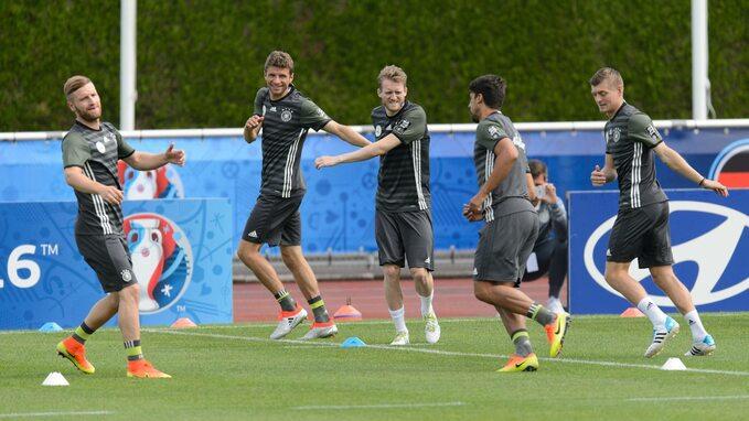 Trening reprezentacji Niemiec