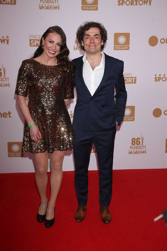 Justyna Kowalczyk z mężem