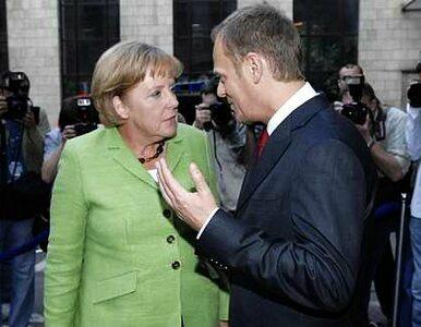 Merkel pogratulowała Tuskowi zwycięstwa