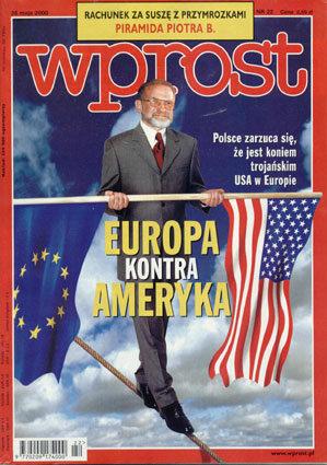 Okładka tygodnika Wprost nr 22/2000 (913)