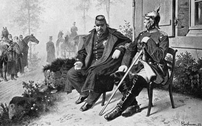 1 września 1870. Bitwa pod Sedanem. Starcie zbrojne podczas wojny   francusko-pruskiej. (fot. domena publiczna)