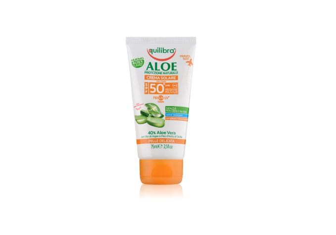 Aloesowy krem przeciwsłoneczny SPF 50+ UVA, UVB 75 ml Equilibra