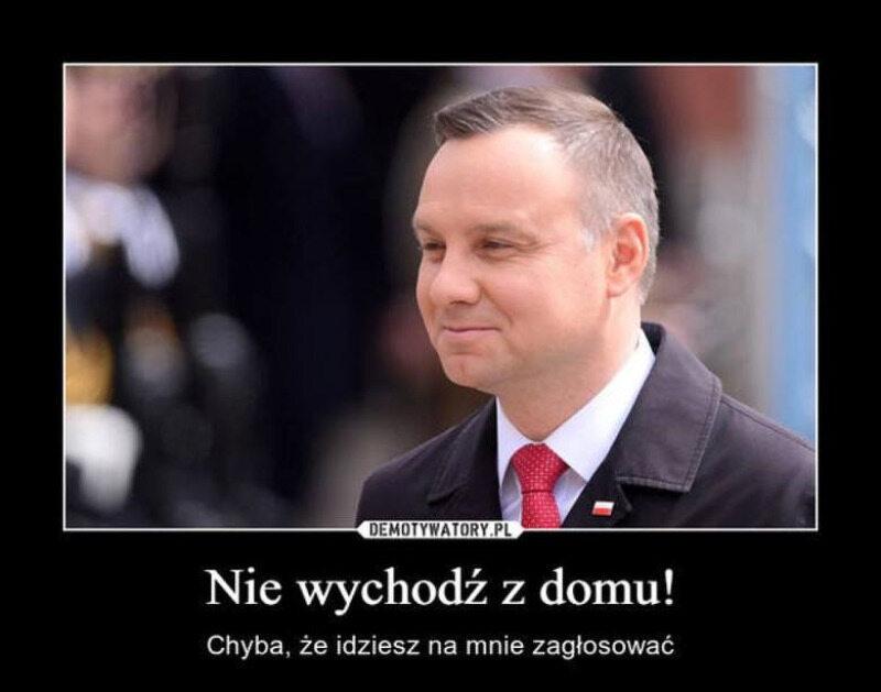Mem komentujący plan przeprowadzenia wyborów korespondencyjnych