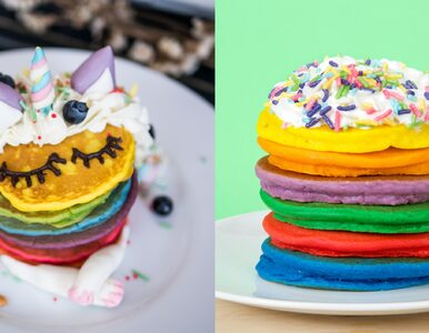 Kolorowe naleśniki hitem Instagrama. Przepis na danie w kolorach tęczy