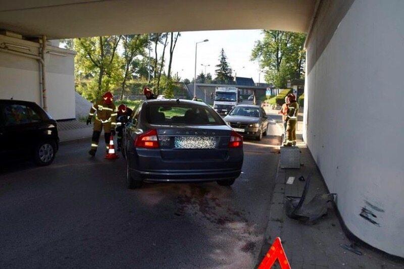 Wypadek kierowcy Volvo pod Tarnowem