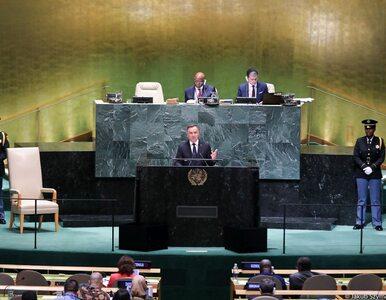 Prezydent Duda na forum ONZ: Nadszedł najwyższy czas, by ocknąć się z...
