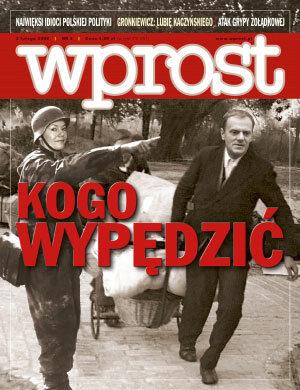 Okładka tygodnika Wprost nr 5/2008 (1310)