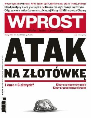 Okładka tygodnika Wprost nr 7/2009 (1362)