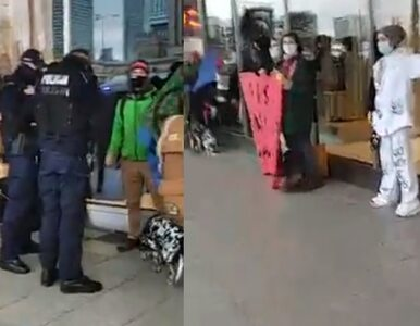 Aktywiści przykleili się do szyby. Policja: Zalecamy większą ostrożność...
