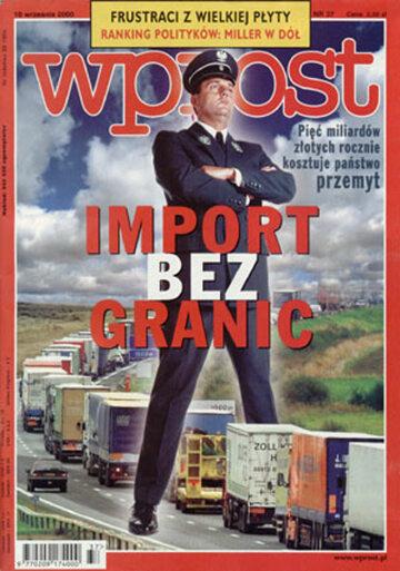 Okładka tygodnika Wprost nr 37/2000 (928)