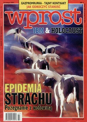 Okładka tygodnika Wprost nr 7/2001 (951)