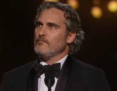 """Joaquin Phoenix z Oscarem za rolę w filmie """"Joker"""". Mocne przemówienie..."""