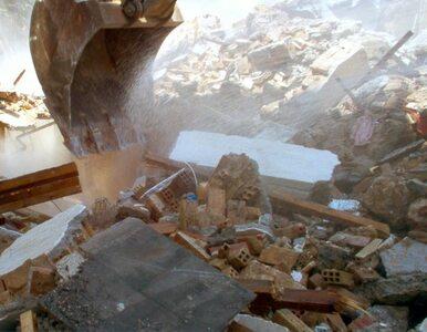 Łódź: zawalił się budynek. W gruzach nie znaleziono ludzi