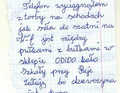 Złodziej oddał telefon 9-latki i napisał list z przeprosinami