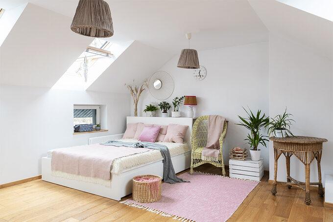 Aranżacja poddasza – sypialnia