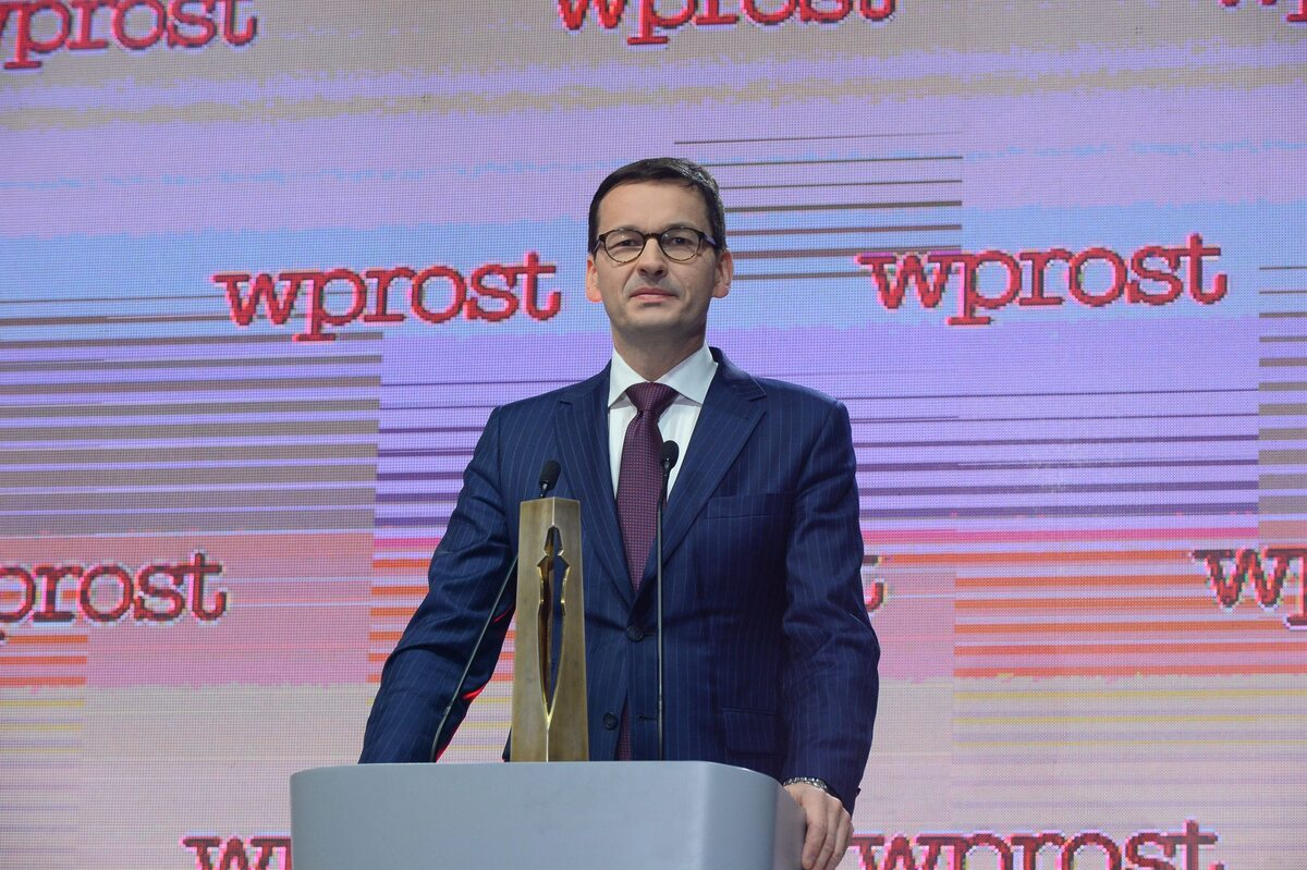 """Premier Mateusz Morawiecki na gali Człowieka Roku 2017 tygodnika """"Wprost"""""""