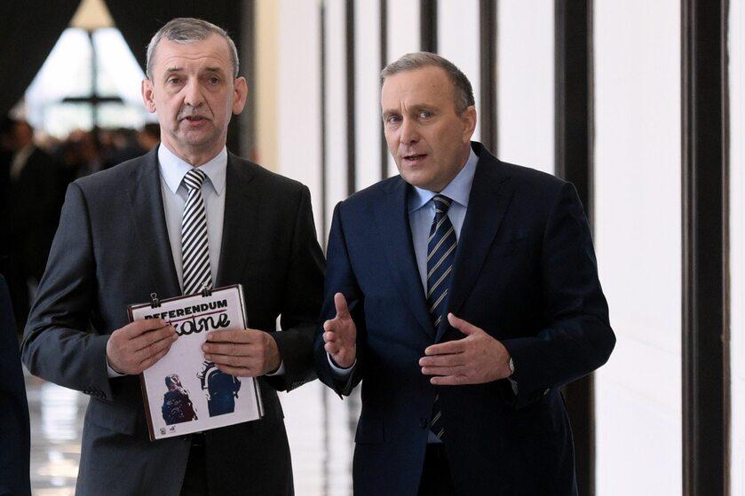 Sławomir Broniarz i Grzegorz Schetyna w 2017 roku