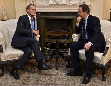 Spotkanie Tusk - Cameron. Nie ma porozumienia