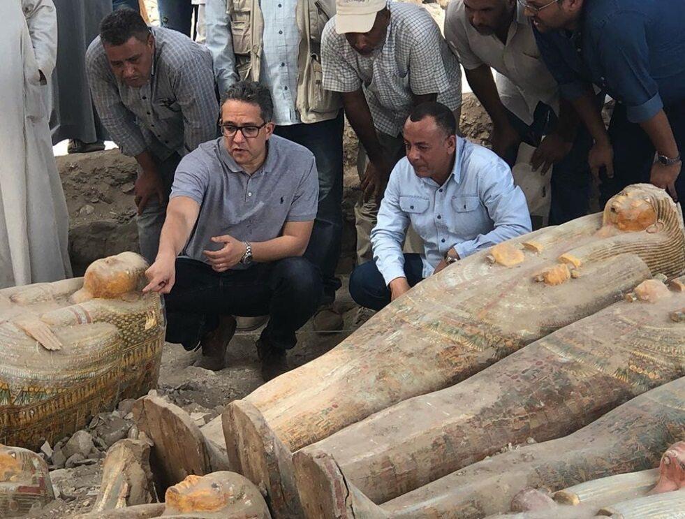 Starożytne trumny znalezione w Egipcie