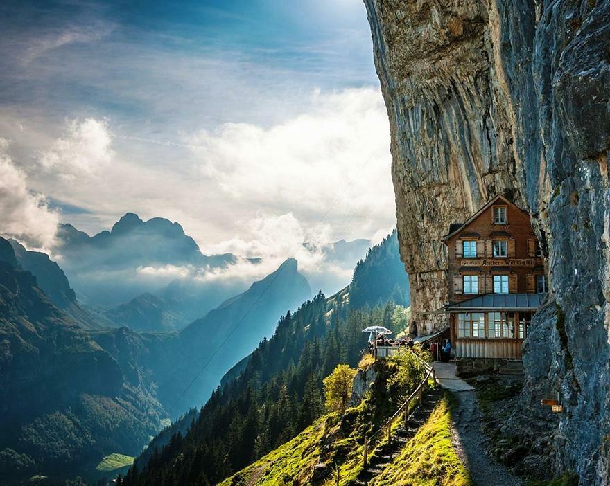 Äscher Cliff, Szwajcaria