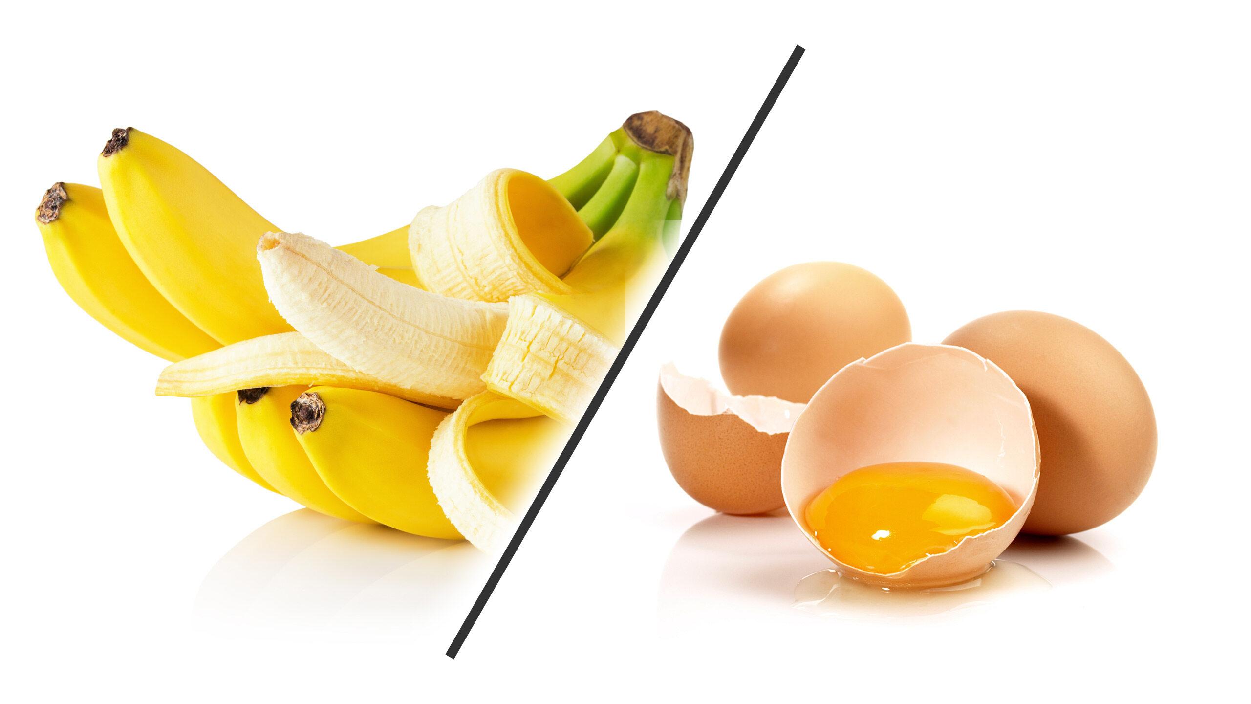 Banan kontra jajko - ilustracja