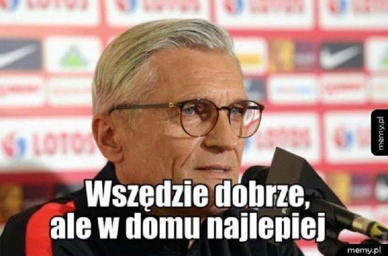 Adam Nawałka odchodzi z reprezentacji Polski - mem