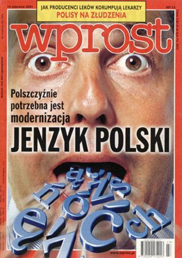 Okładka tygodnika Wprost nr 23/2001 (967)