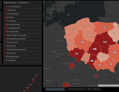 Mapa koronawirusa w Polsce. Ilu jest chorych i jak rozprzestrzenia się...