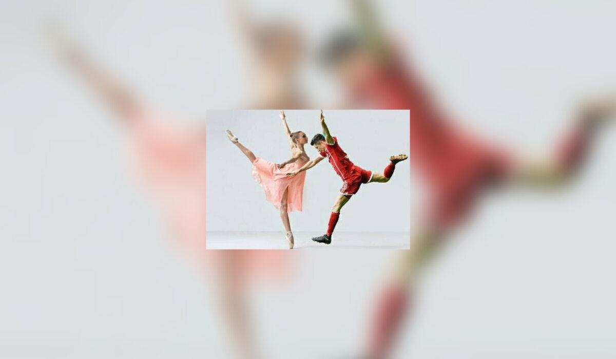 Robert Lewandowski i baletnica