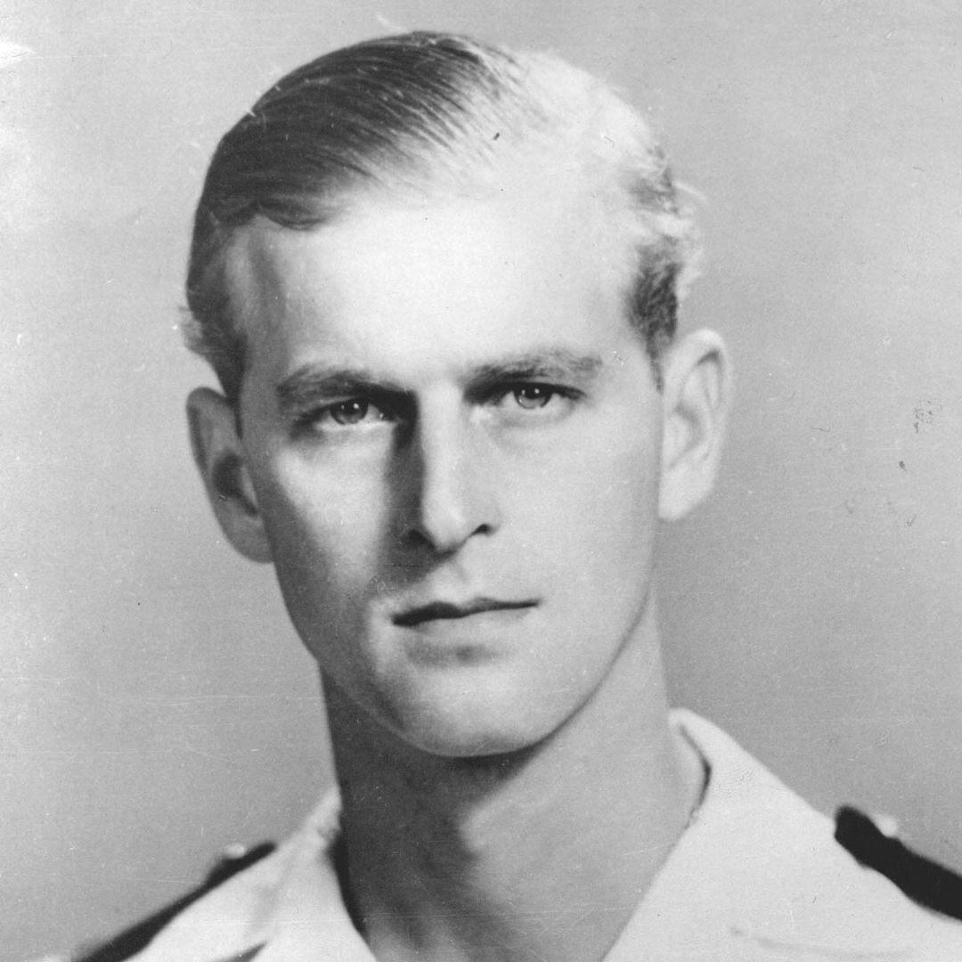 Książę Filip w mundurze wojskowym