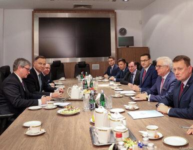 """Prezydent spotkał się w BBN z ministrami i premierem. """"Nasi żołnierze są..."""