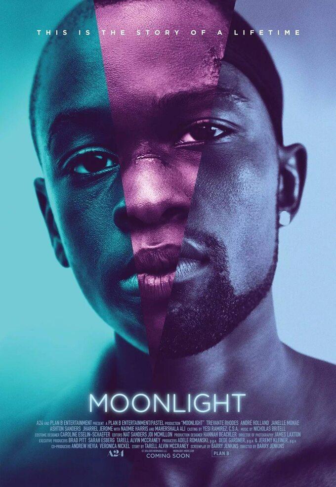 """plakat dofilmu """"Moonlight"""" (2016)"""